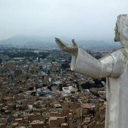 "The ""Christ of the Pacific"" statue that looms over Peru's capital is viewed by some as a symbol of corruption, and thousands are demanding that it be removed. — AFP"