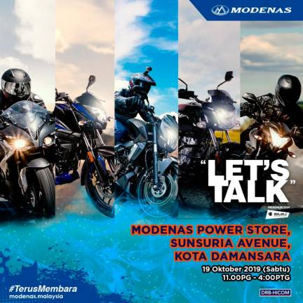 Let's talk with Modenas this Saturday