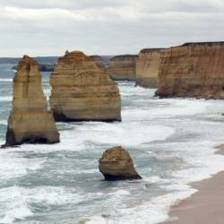 The waters around the Twelve Apostles are notorious for string rips and currents. — AFP