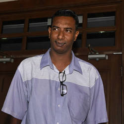 RTM cameraman Mohamad Amirul Amin Mohamed Amer, when he appeared at the George Town High Court on April 16, 2019. — Bernama