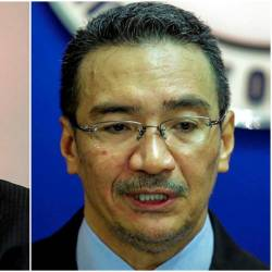 Zahid (L) and Hishammuddin (R).
