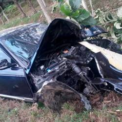 The condition of the car following the accident.