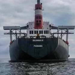 The Malaysian Maritime Enforcement Agency (MMEA) says the Silvana III, which anchored off Kuala Kurau, Perak, on Dec 5, did not follow instructions to drop its ladder to allow officers to conduct checks. — MMEA