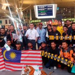 Harimau Malaya supporters setting off to Hanoi for the AFF Suzuki Cup Final second leg between Vietnam and Malaysia