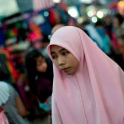 The number of women from the country's ethnic Malay Muslim majority wearing the headscarf has been increasing, in line with growing conservatism. — AFP