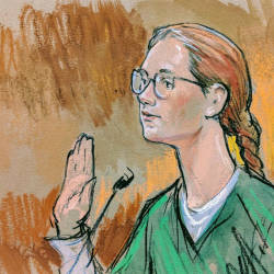 Accused Russian agent Maria Butina is seen in this courtroom sketch in Washington on December 13, 2018. — Reuters
