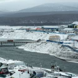 The town of Kurilsk on the island of Iturup. — AFP