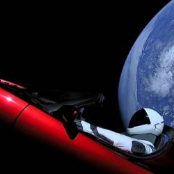 An image of SpaceX's Tesla Roadster after being launched into space. — AFP Relaxnews