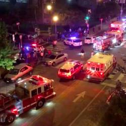 Rescue vehicles are seen following a shooting in Washington, DC, US, on Sept 19, 2019, in this picture obtained from social media. — Reuters