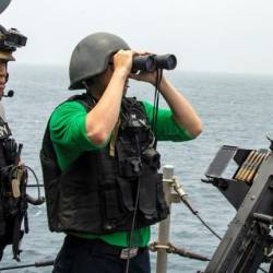 The US Navy is already keeping watch on the Strait of Hormuz and trying to build a coalition of partners to help. — AFP