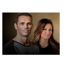 Rich Franklin (L) and Miesha Tate (R).