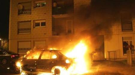 Two policemen injured in patrol car fire in JB