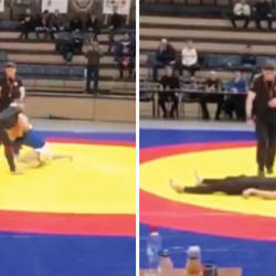 (Video) Russian fighter breaks neck in grappling match