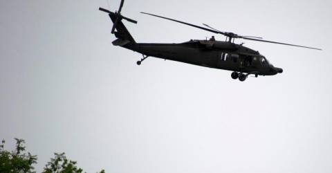 Two missing in Guinea army chopper crash