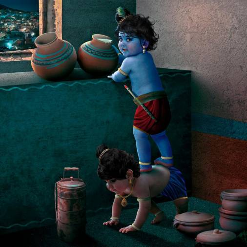 Lord Krishna and Balram are known for stealing butter. – PICTURE COURTESY OF RAMES HARIKRISHNASAMY