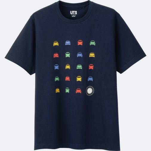 Volkswagen icons on Uniqlo t-shirts