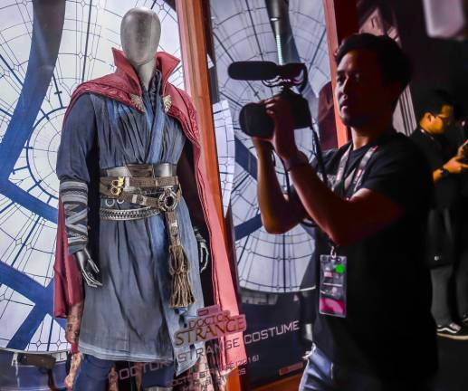 The actual Doctor Strange costume worn by Benedict Cumberbatch. SUNPIX BY ADIB RAWI .