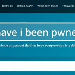 A screenshot of www.haveibeenpwned.com.