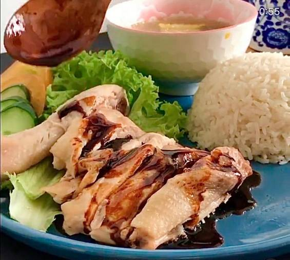 Chicken rice. – PICTURE COURTESY OF MUHAMMAD ANIQ ZULFADHLY MOHD HATTA