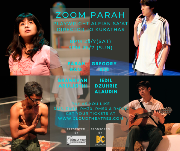 Get your theatre fix by streaming Zoom PARAH this weekend