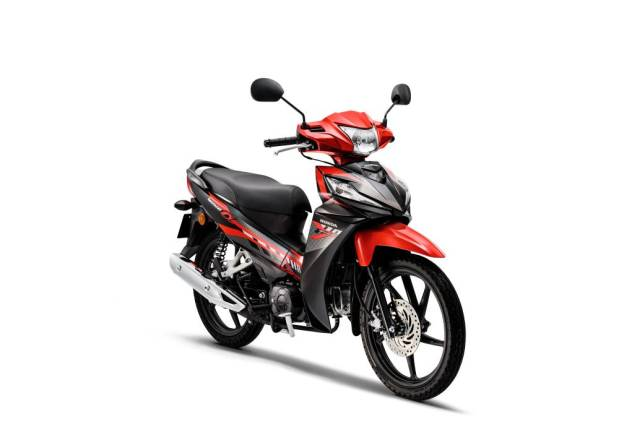 Honda Wave Alpha with new appearance, stripes