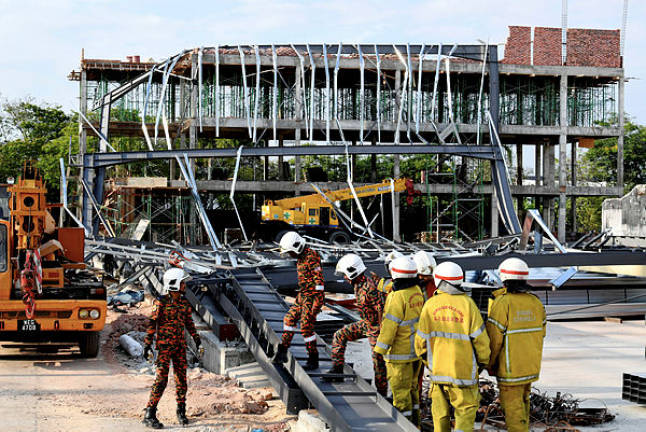 Two workers die, three injured in factory building collapse