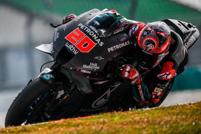 Quartararo scores fastest MotoGP test time in Sepang