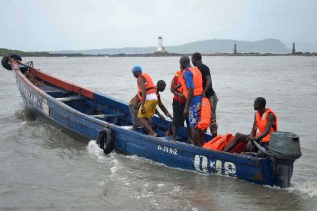 Two dead, 30 missing after boat capsizes near Guinea capital