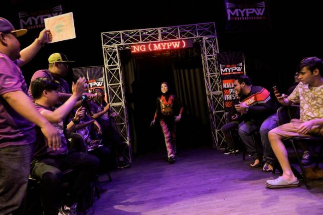 Phoenix making her grand entrance at MyPW Fightback. Asyraf Rasid / the sun