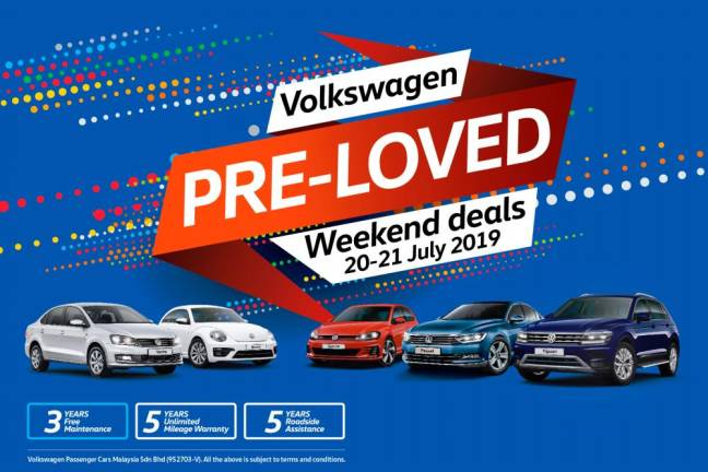 Don't miss the Volkswagen 'Pre-loved Weekend Deals'