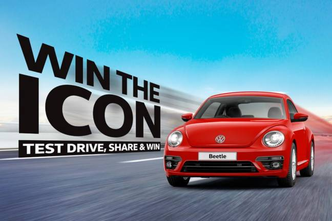 Test drive a VW, win a Beetle