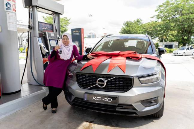 Caltex contest winner gets SUV