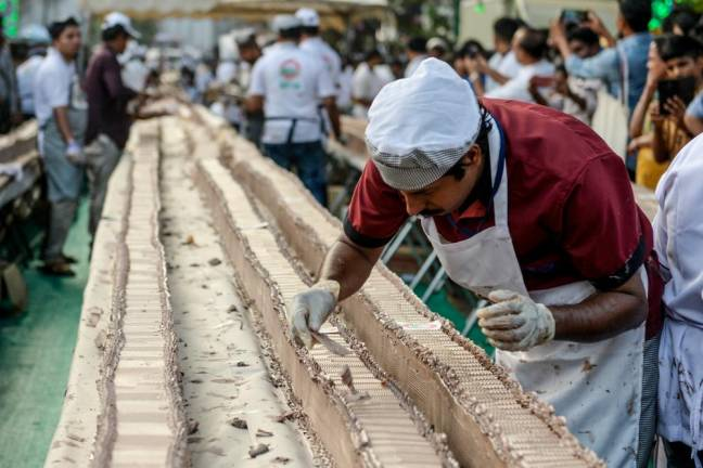 Indian bakers make world's 'longest' cake