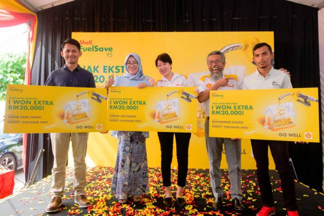 Shell contest got four customers RM20,000 richer