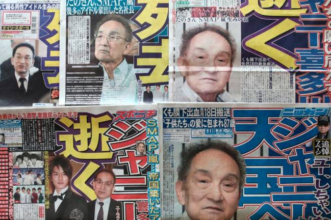 Japan Boyband star-maker Johnny Kitagawa dead at 87