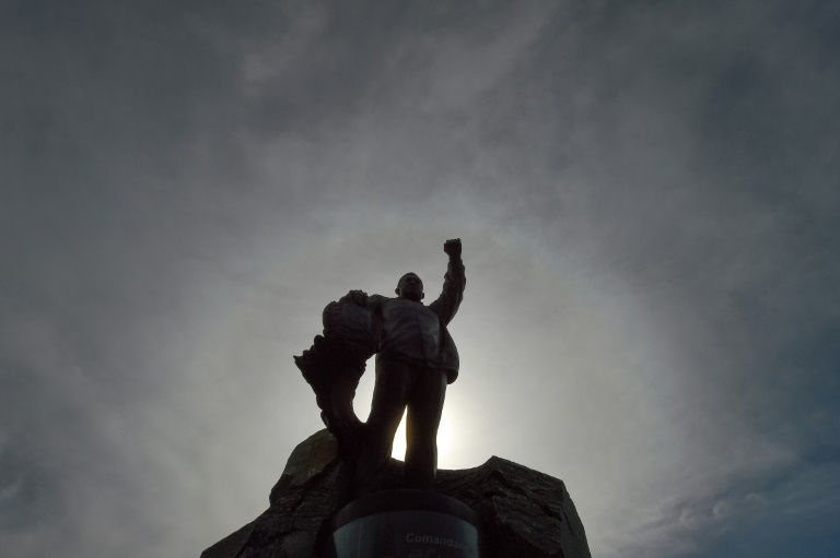 United Nations figures show significant support remains not just for Hugo Chavez, a statue of whom is seen here, but also for his socialist revolution. — AFP