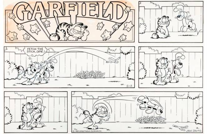 Artworks from 'Garfield' comic strip heading to auction