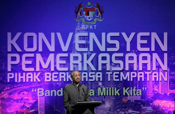 Govt will not hold local govt elections, says Mahathir