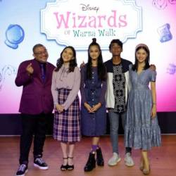 The all-local cast of the Wizards of Warna Walk ... (from far left) Afdlin, Mia, Emma, Idan, and Soo.