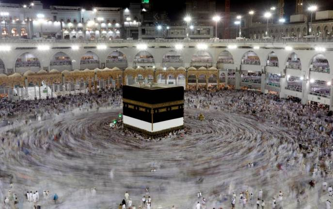Muslim pilgrims pray around the holy Kaaba at the Grand Mosque ahead of the annual haj pilgrimage in Mecca. REUTERS PIX