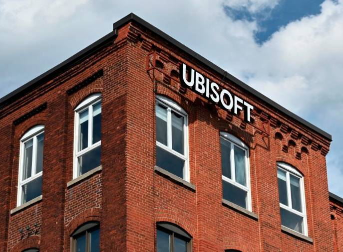 French videogame giant Ubisoft's Montreal office is seen on July 18, 2020 in Quebec, Canada. . / AFP / Eric THOMAS