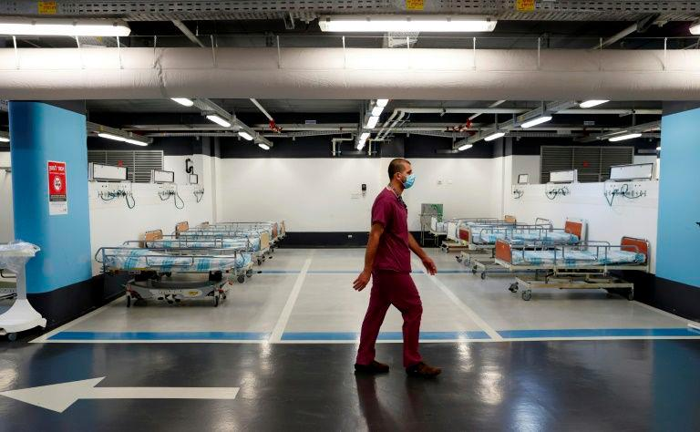 A hospital in the Israeli city of Haifa has resorted to turning its underground car park into a coronavirus ward, as demand for beds outstrips supply in the country. — AFP