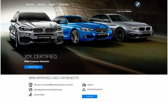 All-new digital experience for BMW Premium Selection