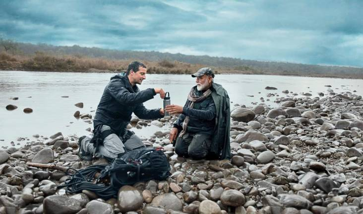 India's Modi bears all with Grylls