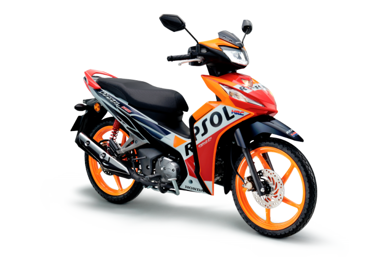 $!The current Repsol Edition variant which is only available in the double disc-brake configuration will be maintained.