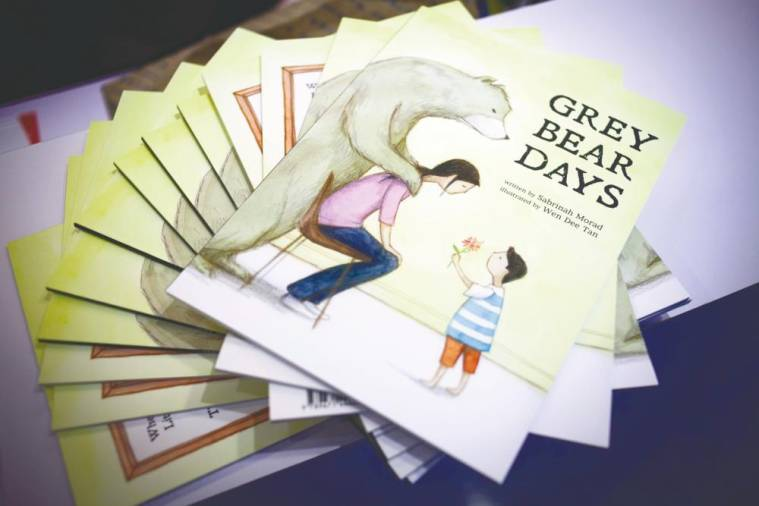 Sabrinah wrote teh book 'Grey Bear Days' to help parents talk to their children about depression. – Courtesy of Aisyah Ambok