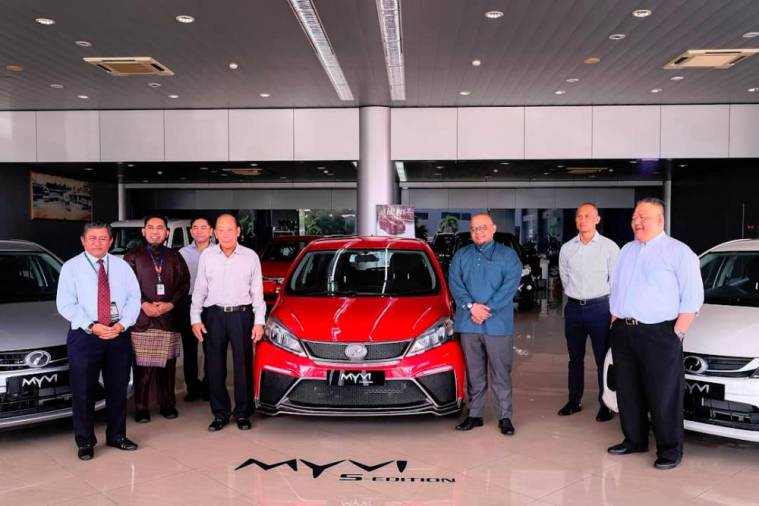 The Perodua Myvi 1.3L G 'S-Edition' introduced by GHK Motors on July 4. (image from 'Perodua Brunei' Facebook page)
