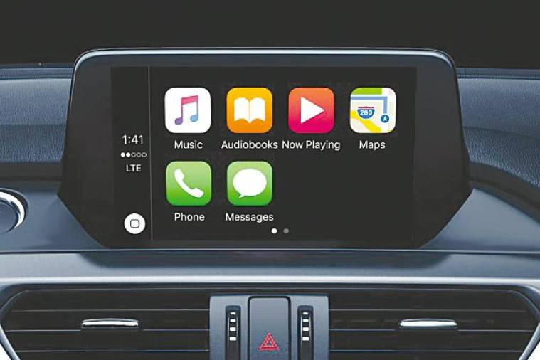 $!Mazda Connect Infotainment, shown with Apple Carplay and Android Auto feature.