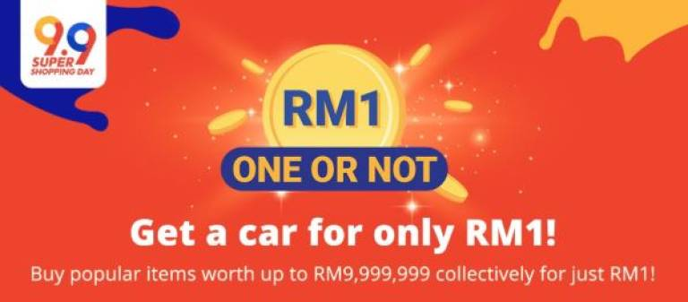 Get a Honda City for RM1 on Shopee