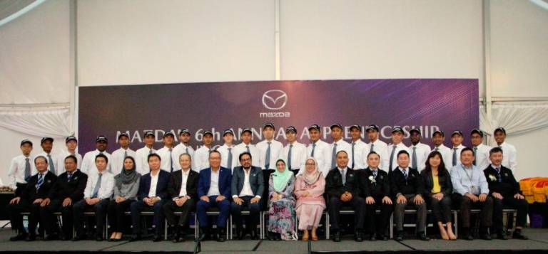 126 graduate from Mazda Training Centre